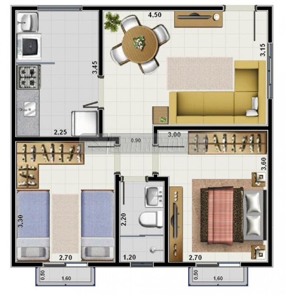 Comprar Apartamentos / Apto Padrão em Votorantim R$ 165.000,00 - Foto 9