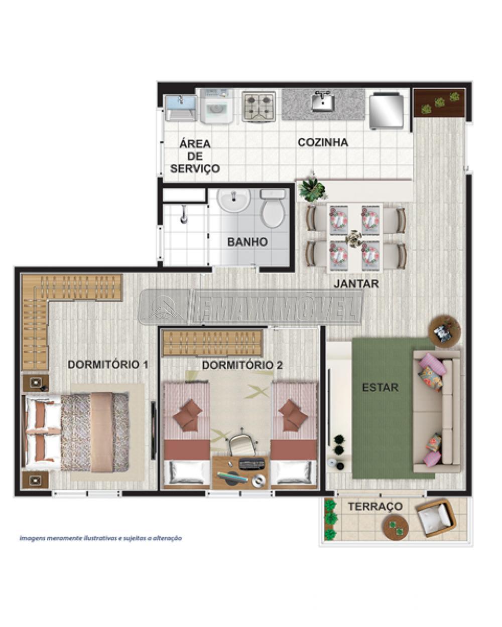 Comprar Apartamentos / Apto Padrão em Sorocaba apenas R$ 197.000,00 - Foto 3